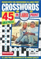 Crosswords in large print magazine