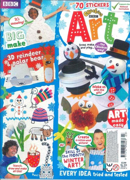 Cbeebies Art magazine